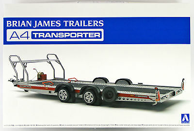 Aoshima 52600 Tuned Parts SP Brian James Trailers A4 Transporter 1/24 scale kit