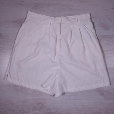 "Ladies ADIDAS 30"" Vintage White High Waisted Tennis Hotpants Shorts #D4208"