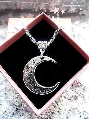 Double Sided Moon Reading[ Love You To The Moon And Back] Necklace, Birthday