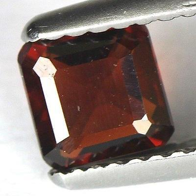 0.81 cts.5.2 x 2.9mm.UNHEATED NATURAL RED ALMANDINE GARNET SQUARE OCTAGON AFRIC2