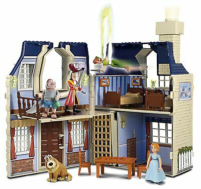 Famosa Disney Heroes Peter Pan Wendy Darling Mansion House Playset RARE NO S/H