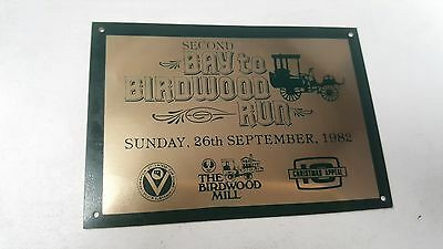 1982 Second  BAY TO BIRDWOOD South Australia   Rally Badge