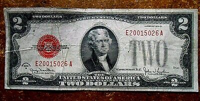 1928-G Two Dollar U.s.red Seal Note Nice Circulated Bill