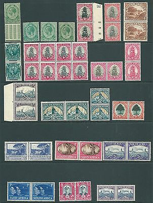 SOUTH AFRICA - Vintage MINT pairs and blocks including SHADES
