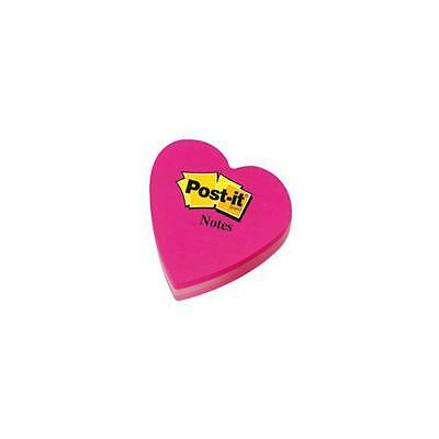 2007H Post-it Heart Shaped Notes Pad of 225 Sheets Pink Tones