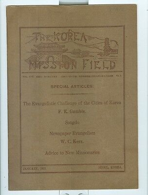 January 1923 Mission Work in Korea