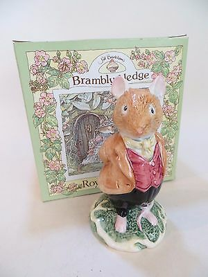 Royal Doulton Brambly Hedge 'lord Woodmouse' Perfect & Boxed. Dbh4. Mouse.