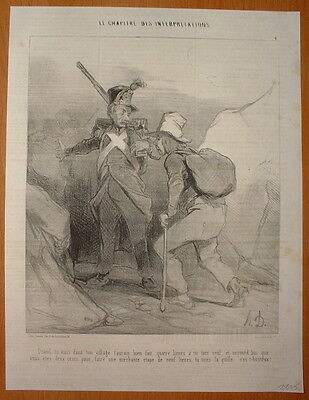 Phd - Daumier 1843 Chapitre Interpretations Hd-1106/6 - Militaire & Civil
