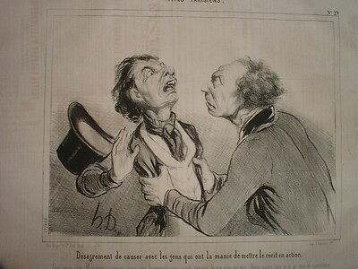 Phd - Daumier 1842 Types Parisiens N°29 Hd-379 Mettre Le Recit En Action