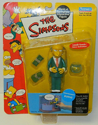 The Simpsons Montgomery Burns Action Figure with Voice Playmates 2000 NEW SEALED