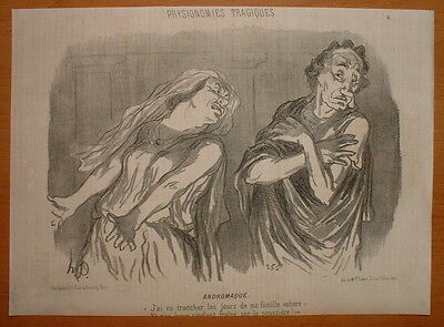 Phd - Daumier 1851 Physionomie Theatre Tragique Hd-2369/6 - Andromaque