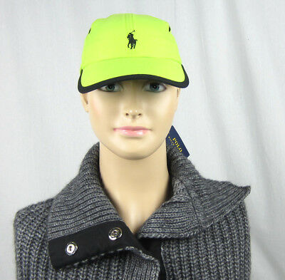 NWT Polo Ralph Lauren Mesh Vented Adjustable Baseball Cap Rescue Green One Size