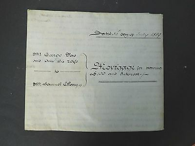 Antique Vellum Indenture dated 1859 two pages St Albans Hertfordshire