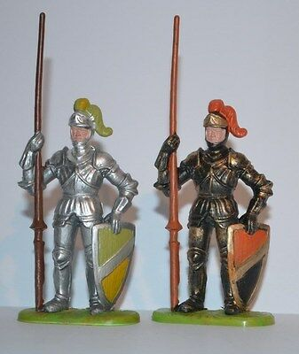 Elastolin 70mm Standing Knights Figures