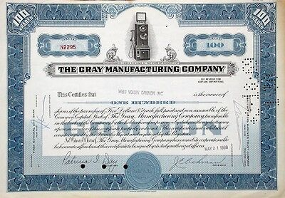 Gray Manufacturing Company - 1968