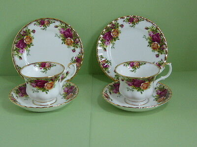 Royal Albert Old Country Roses Tea Trio Cup Saucer Plate x 2 - Set A