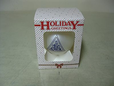 Collectible White Purple Job's Daughters Masonic Glass Christmas Ornament