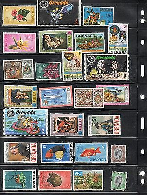 Grenada  Group of mostly used stamps