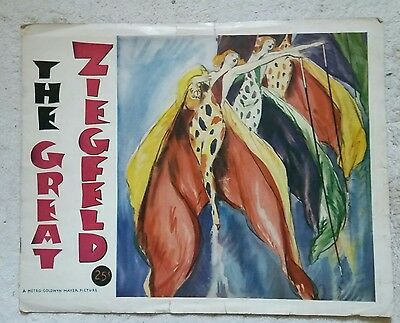 Vintage 1936 the great Ziegfeld play large Program MGM Theatre Follies