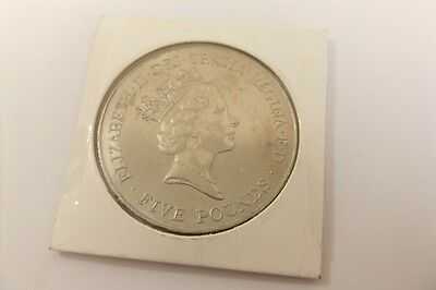 UK ROYAL MINT 1926-1996 QE II 70TH BIRTHDAY £5 COIN. CROWN Good Condition