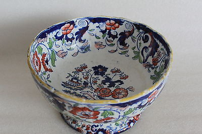 Antique Minton Amherst Japan Ironstone  Large Footed Punch / Fruit Bowl