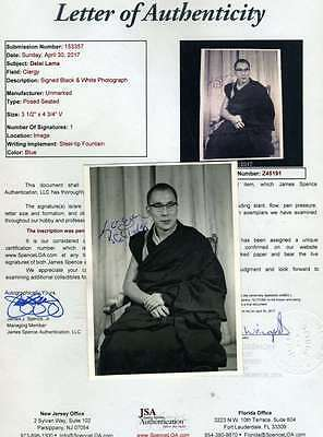 Dalai Lama Jsa Coa Hand Signed Photo Rare Authenticated Autograph
