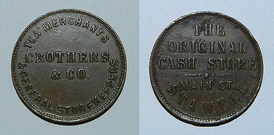 1860s Crothers & Co. VIC halfpenny. R 97. 24mm. Some roughness, scarce, VF
