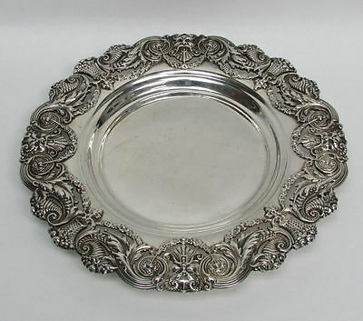 """Fabulous Antique Mauser Sterling Silver Bacchus Head 8 1/4"""" Wine Coaster"""