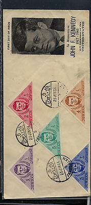 Jordan     Kennedy  stamps  on  cachet  cover                MS0312