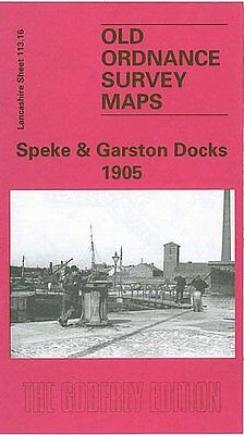 Old Ordnance Survey Map Speke & Garston Docks 1905