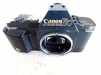 Canon T70 35mm Film Camera Body Looks & Works Great