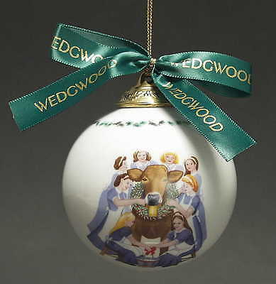 Wedgwood TWELVE DAYS OF CHRISTMAS BALL ORNAMENT 8 Maids A Milking 3391047