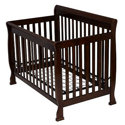 Pine Wood Newborn Baby Toddler Bed Convertible Crib Nursery Furniture Safety