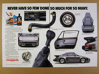 1989 Armor All Porsche 911 Flatnose color photos vintage print Ad
