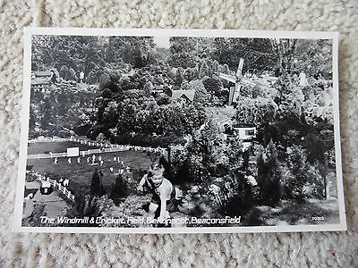 Bekonscot, Beaconsfield Model Village, Windmill, Cricket, Real Photo Postcard