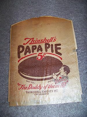 Thinshell's Papa Pie Thinshell Candies Chicago Glassine Envelope