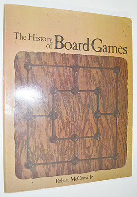 1974 THE HISTORY OF BOARD GAMES by Robert McConville