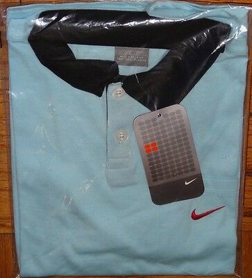 Nike Boys Size M 10 12 Light Blue Polo Golf Tennis Short Sleeve Shirt NWT NEW