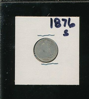 Liberty Silver Seated Dime - 1876-S