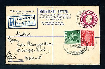 1937 Registered Cover from Kew Gardens with Edward VIII  1/2d  (J1630)
