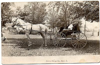 "BASIL OHIO EARLY 1900's ""COLONIAL BADGE COMPANY""--AWESOME REAL PHOTO ADVT. VIEW~"