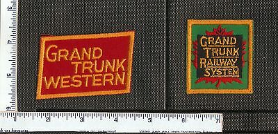 for sale, 2 Cdn. Rail Road patches, Grand Trunk and Grand Trunk Western.