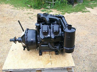 WISCONSIN V465D GAS Engine, w/ Rockford PTO Good Low Hours Test Cranked and  Run