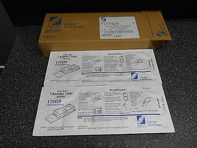 Nalge Nunc Lab-Tek 177429 Chambered Slide W/ Cover System Size 2 Well 16/pk