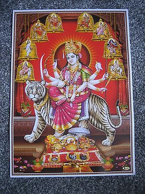 Lovely Poster Of Hindu Goddess Durga