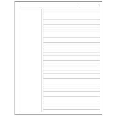 Levenger Special Request 100 Unpunched Annotation Ruled Sheets-Letter