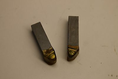 Pair of Hunter Positive Rake Carbide Cutting Bit Holders for Brake Lathe