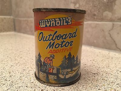 SEALED Vintage Wynoil's Wynoil Outboard Motor Additive Oil Can SEALED Wynn