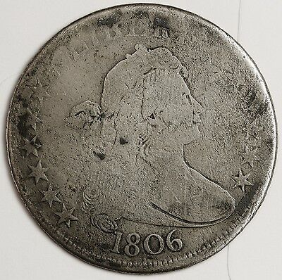 1806 Bust Half.  Natural Uncleaned.  Good.  103273