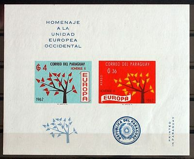 PARAGUAY 1962, $220, ImPerf MNH Sheet, United Europe, Europa